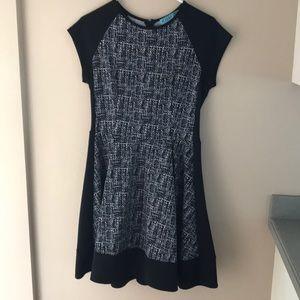 Black print dress. Size medium